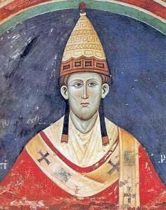 Papež Inocenc III. (†1143) ještě pod tresty exkomunikace trval na původním křižování věřících...
