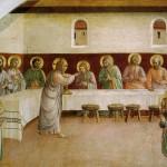 Poslední večeře Páně v kruhu apoštolů (Fra Angelico, 1440)