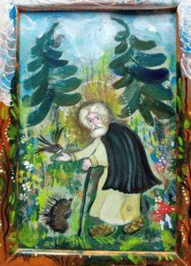 Svatý Serafim Sárovský - obraz z ruského monastyru.