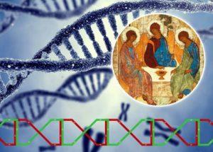 """DNA netvoří jen proteiny, ale i jakési """"hologramy"""", tedy pro vědu """"tichá"""" místa v DNA, v nichž vibruje onen zakódovaný TEXT molekuly, tedy ono Slovo, a neustále udržuje proteiny DNA v organisované struktuře."""