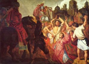 """""""Kamenování sv. Štěpána"""" (Rembrandt, 1626)"""
