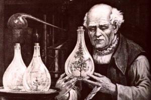 Velký lékař a alchymista Paracelsus (1493-1541) zjistil tisíci a tisíci pokusy, že je třeba potřebný lék najít kdekoli jednoduše po ruce. Následně jej upravit myšlenkou a modlitbou tak, aby byl vhodný k podání pacientovi. Čímž se organismus nemocného nastartuje k tomu, že si zacelí rány a vyléčí nemoc sám...