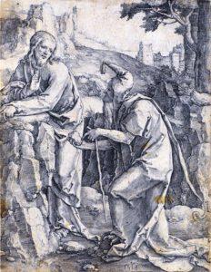 (Pokoušení Krista, Lucas van Leyden, 1518)