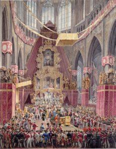 Korunovace Ferdinanda V. ve svatovítské katedrále 7. září 1836